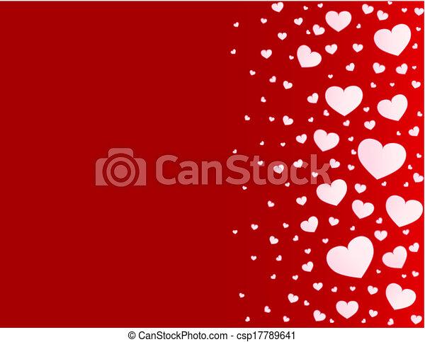 Valentine card hearts vector background - csp17789641