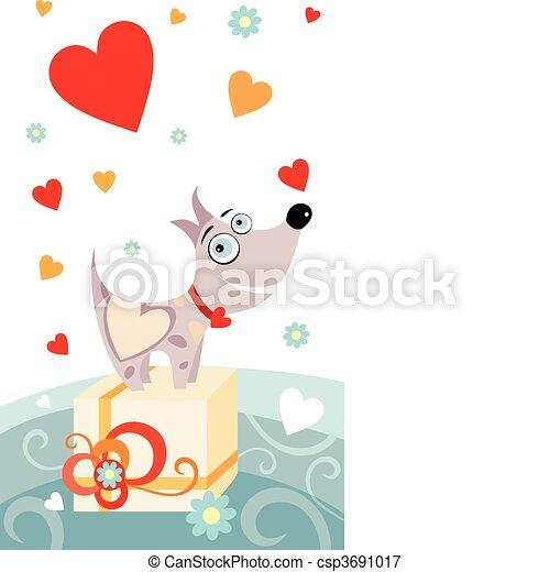 valentine card - csp3691017