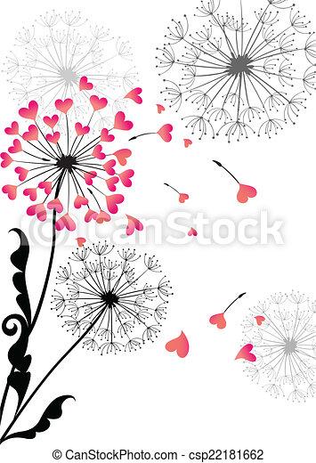 Valentine card with dandelion - csp22181662