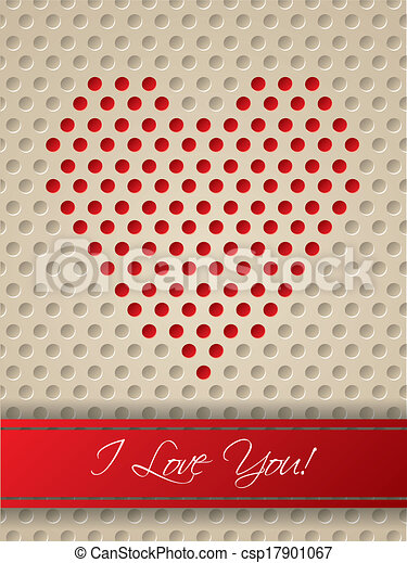 valentine card with heart shaped dots valentine day greeting card