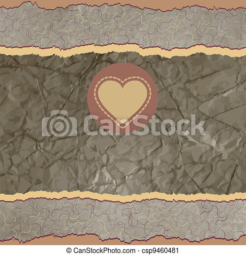 Valentine card with placeholder. EPS 8 - csp9460481