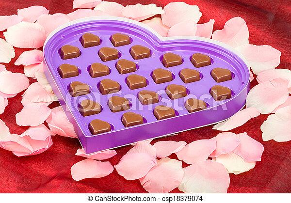 Valentine Chocolate Present Chocolate Hearts As Valentine Present