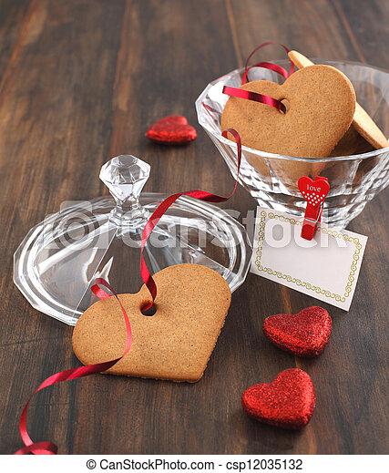 Valentine cookies - csp12035132