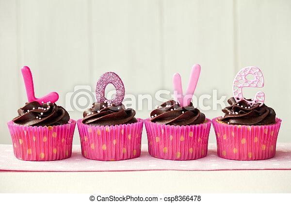 Valentine cupcakes - csp8366478
