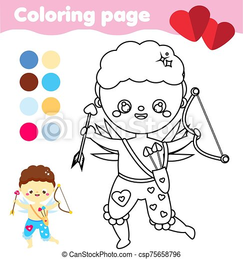 Valentine's Day Cupids Coloring Pages - Cupid's Arrow | HonkingDonkey | 470x438