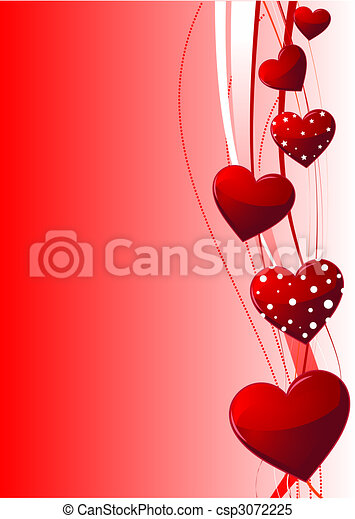 Valentine Day Background Beautiful Red Valentine S Day Vector