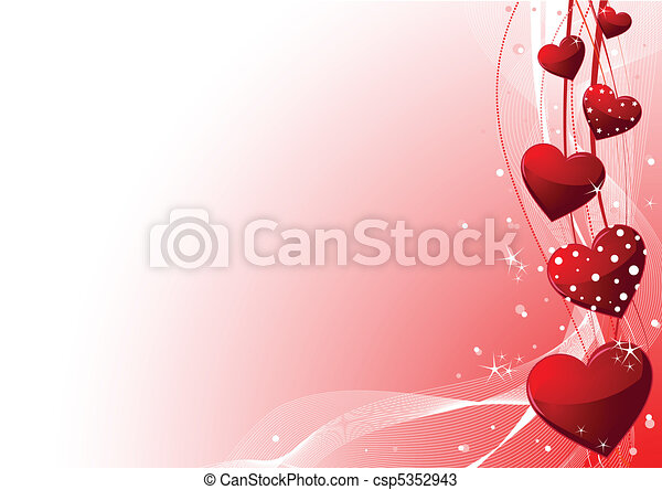 valentine day background. Beautiful red valentine\'s day... vectors ...