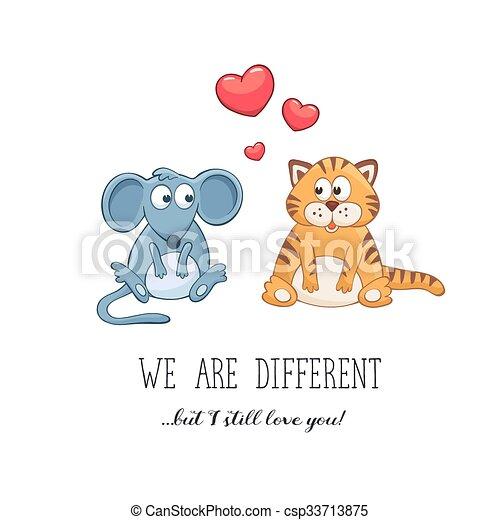 Valentine Day Cute Animals Cartoon Animals With Hearts Valentine S