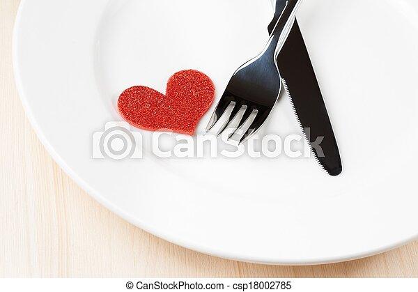 Valentine Day Dinner To Restaurant On Wood Background Decorative