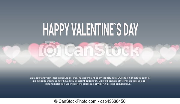 Line Art Valentine : Valentine day gift card holiday love heart shape banner with
