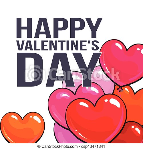 Valentine day greeting card with bunch of heart shaped balloons valentine day greeting card with bunch of heart shaped balloons csp43471341 m4hsunfo