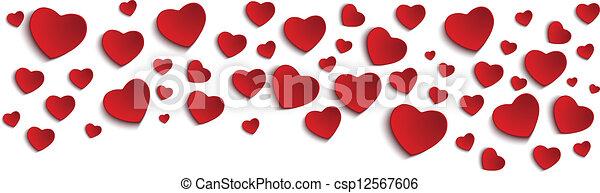 Valentine Day Heart on White Background - csp12567606