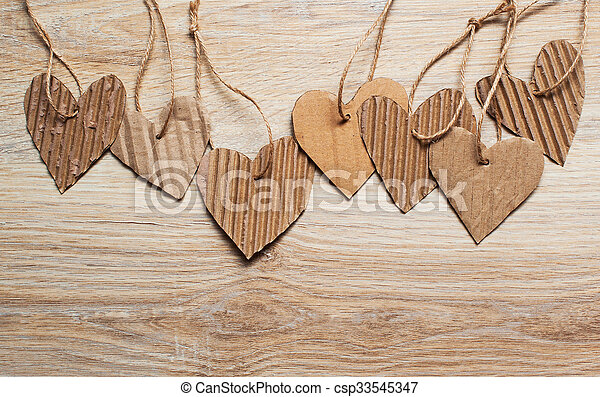 Valentine Day scrapbooking elements paper hearts and place for text - csp33545347