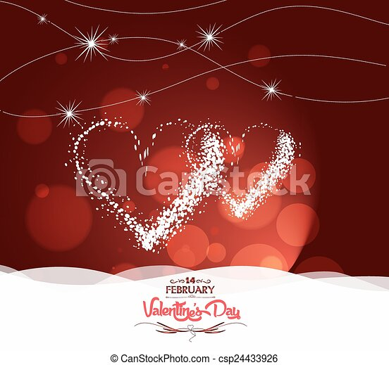 valentine day with heart light - csp24433926