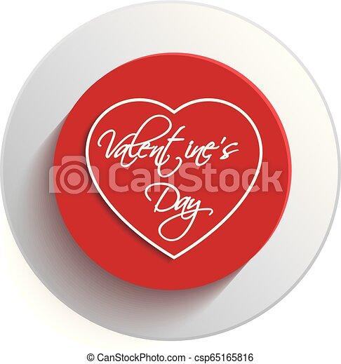 valentine, dzień, serce, guzik - csp65165816