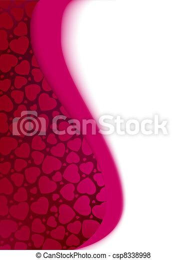 valentine, eps, jour, cœurs, 8, template., carte - csp8338998