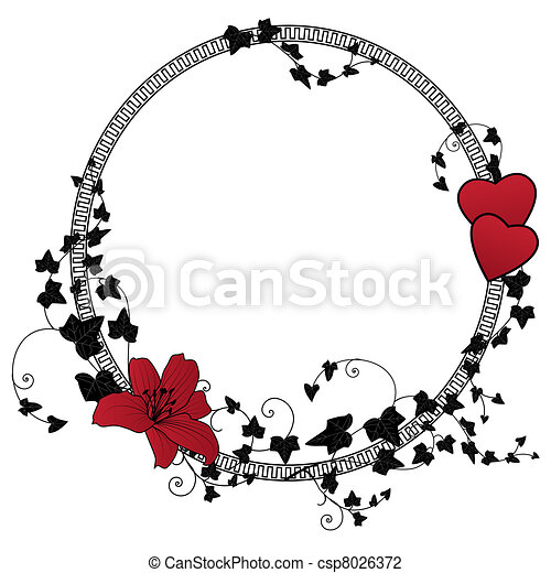 valentine floral frame  - csp8026372