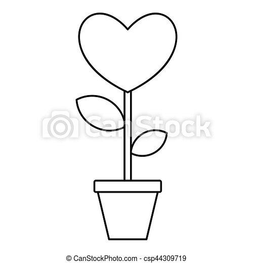 Valentine Flower Pot Icon Outline Style  sc 1 st  Can Stock Photo & Valentine flower pot icon outline style. Valentine flower pot icon ...