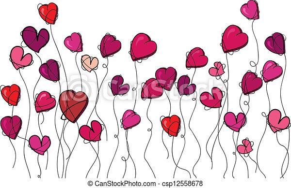 Valentine Flowers Love Heart Valentine Day Spring Flowers Love
