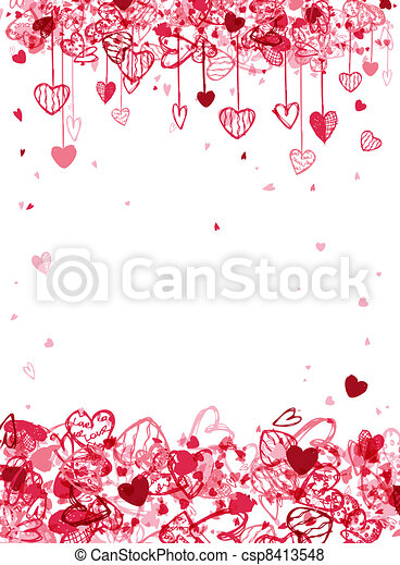 Valentine frame design with space for your text - csp8413548