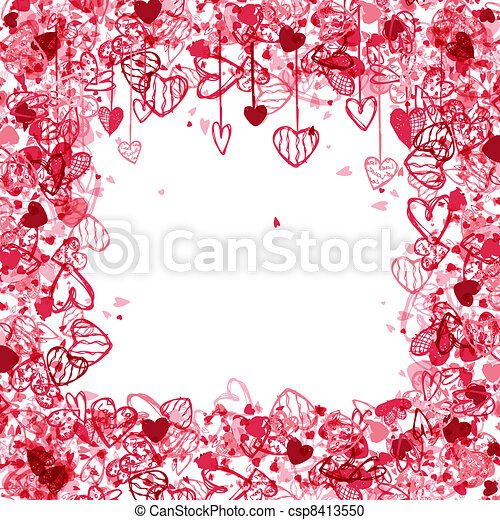 Valentine frame design with space for your text.