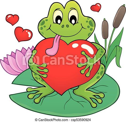 valentine frog theme image 2 eps10 vector illustration vector rh canstockphoto com Tree Frog Vector Turtle Vector