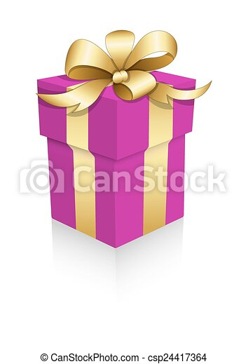 Valentine Gift Box Vector Abstract Decorative Pink Gift Box Wrapped