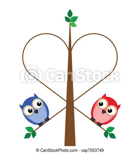 Valentine girl and boy - csp7553749