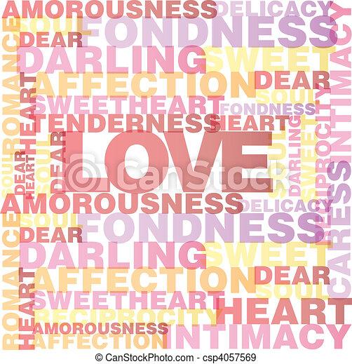 Valentine heart from love words  - csp4057569