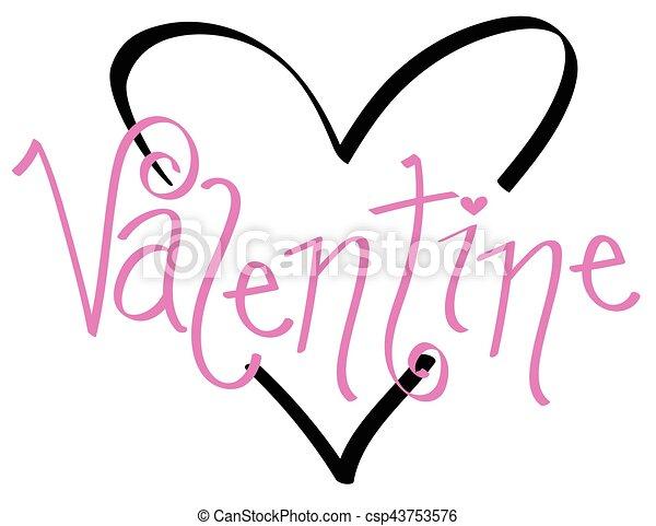 Valentine Heart - csp43753576