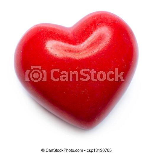 Valentine Heart isolated on White Background - csp13130705