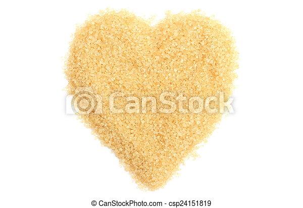 Valentine heart of sugar on white background - csp24151819