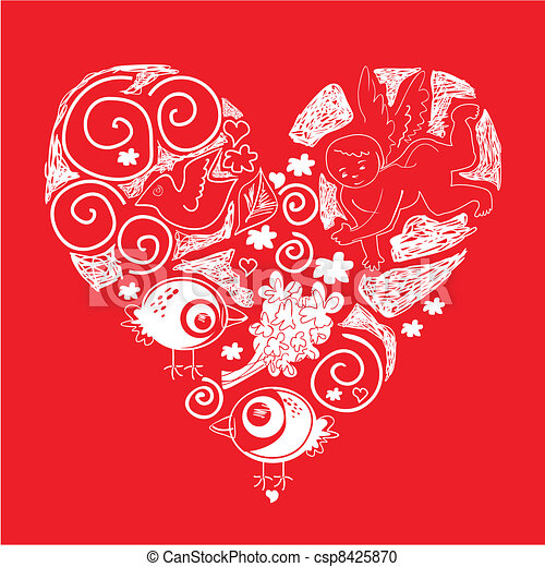 Valentine Heart Valentine S Day Cute Decorative Doodle Heart