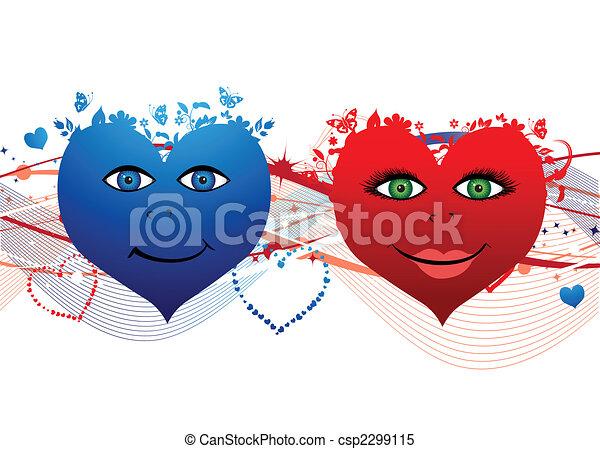 Valentine hearts - csp2299115