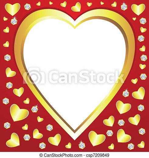 valentine hearts  - csp7209849