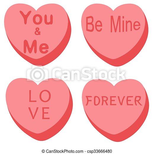 valentine hearts - csp33666480