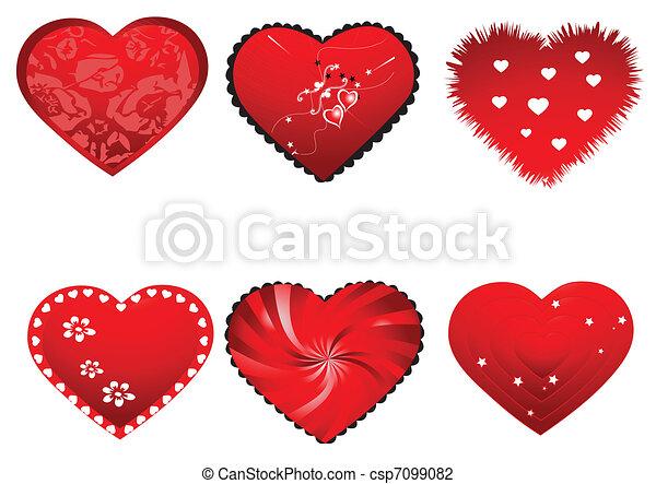 Valentine hearts - csp7099082