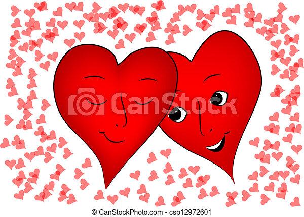 valentine hearts - csp12972601