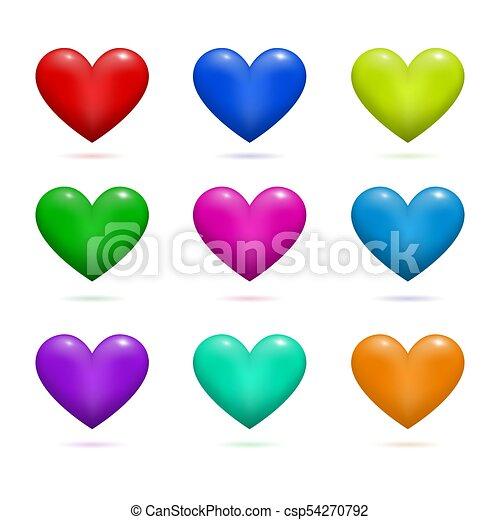 valentine, illustrazione, day., vettore, disegno, cuori, tuo - csp54270792