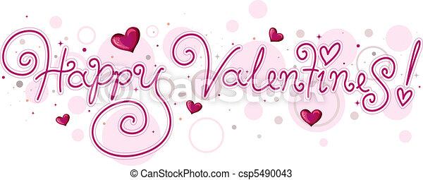 Valentine Lettering - csp5490043