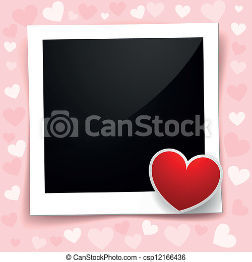 valentine photo frame - csp12166436