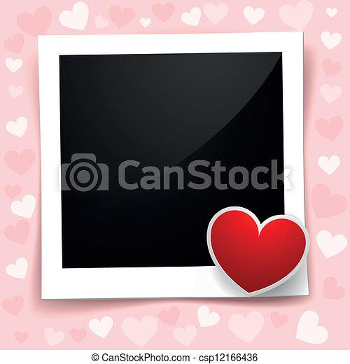 valentine photo frame - csp12166436