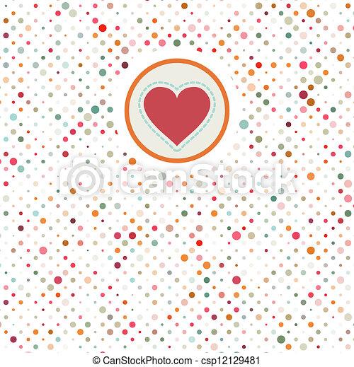Valentine polka dots. EPS 8 - csp12129481