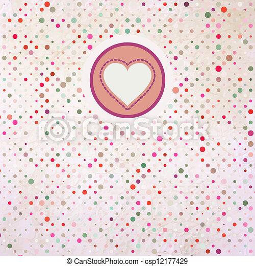 Valentine polka dots. EPS 8 - csp12177429