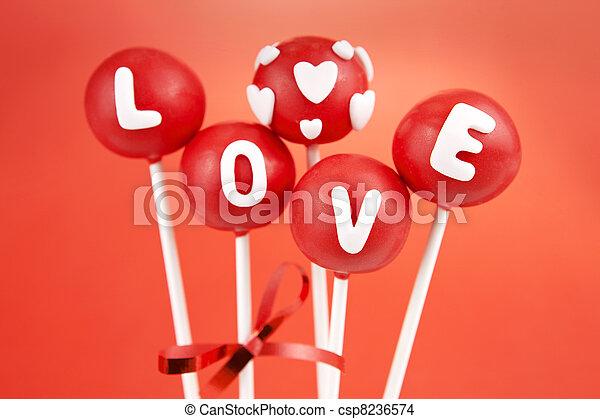 Valentine pop cakes - csp8236574