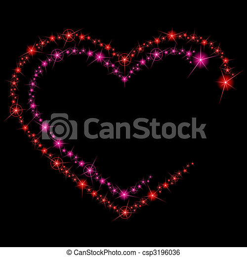 Valentine sparkle background - csp3196036