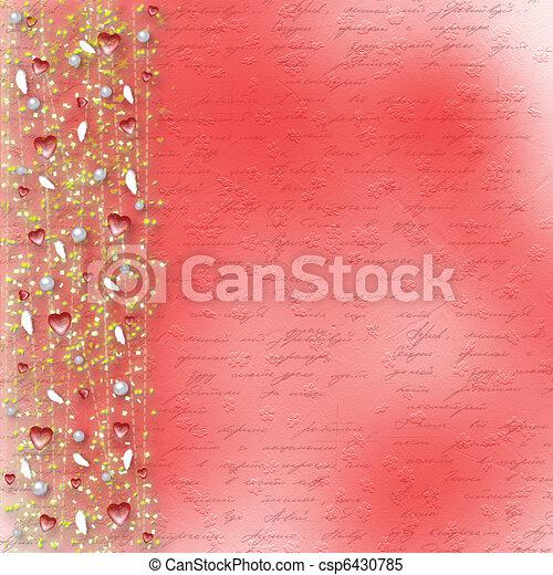 valentine, straat., groet, hartjes, dag, kaart - csp6430785