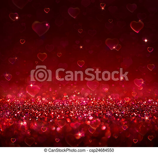 valentine, tło, serca - csp24684550