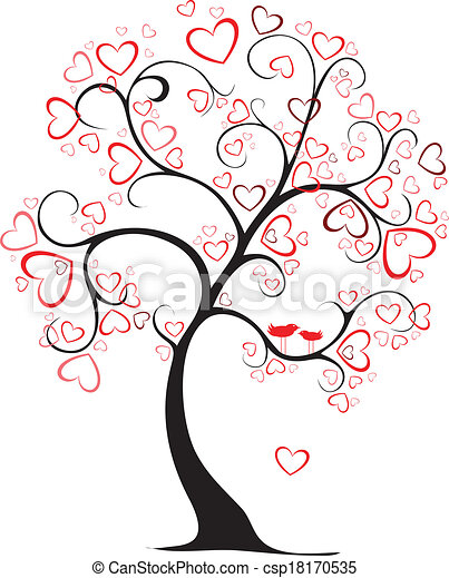 valentine tree - csp18170535