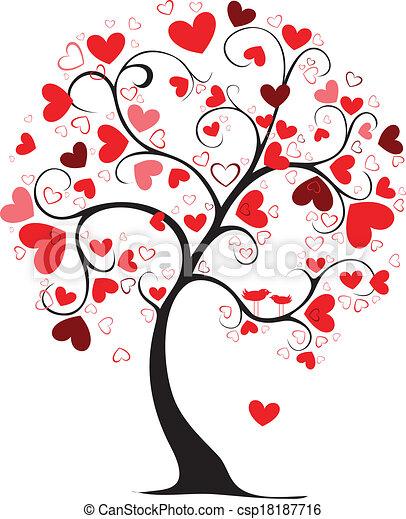 Valentine tree valentine day tree in my interpretation - Animale san valentino clipart ...